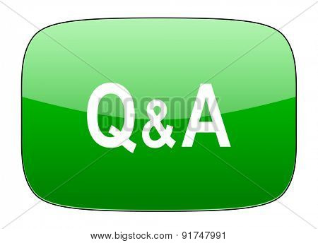 question answer green icon