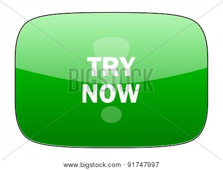 try now green icon