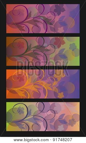 Vector background with abstract floral pattern.