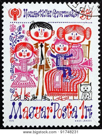 Postage Stamp Hungary 1979 Family