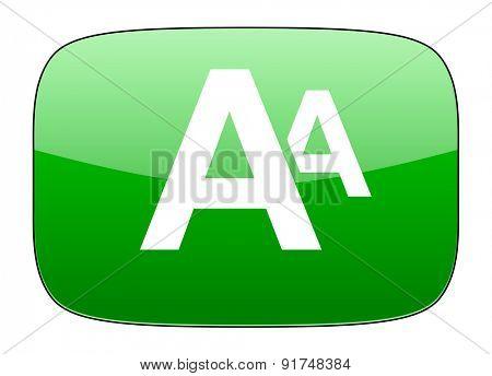 alphabet green icon