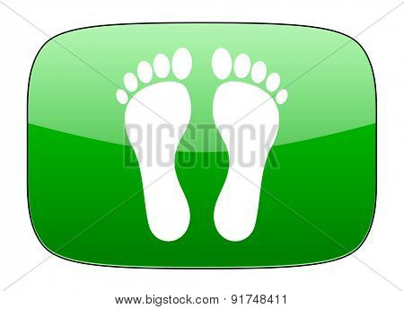 foot green icon