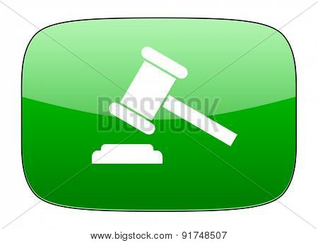 auction green icon court sign verdict symbol