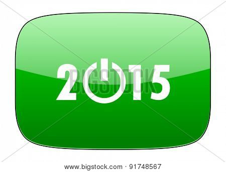 new year 2015 green icon new years symbol