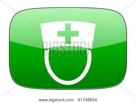 nurse green icon hospital sign