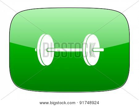 fitness green icon