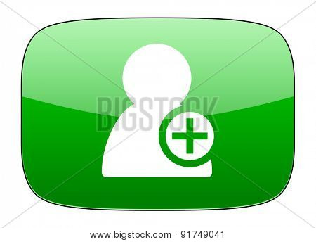 add contact green icon
