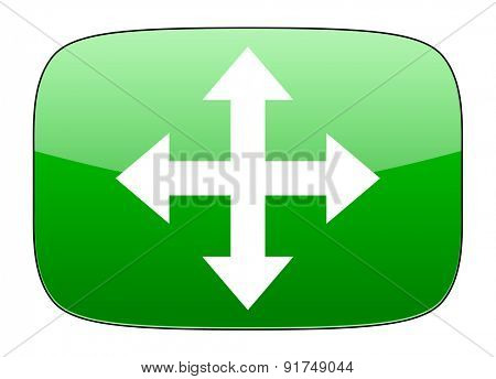 arrow green icon