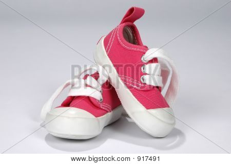 Baby Shoes In Hot Pink