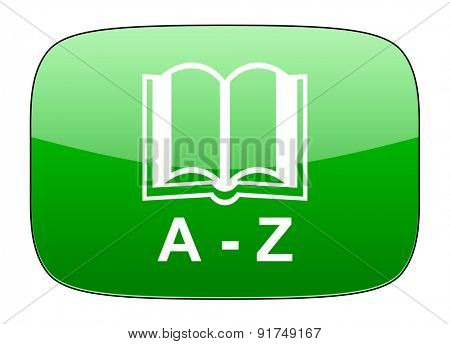 dictionary green icon
