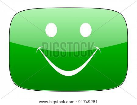 smile green icon