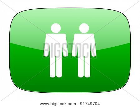 couple green icon people sign team symbol
