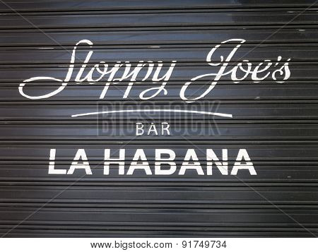 HAVANA,CUBA - MAY 25,2015 : The famous Sloppy Joe's bar, a favorite of american celebrities before the 1959 cuban revolution