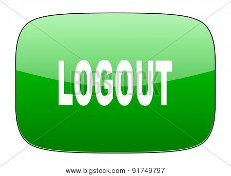 logout green icon