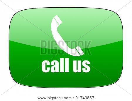 call us green icon phone sign