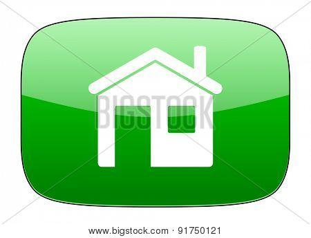 house green icon home sign
