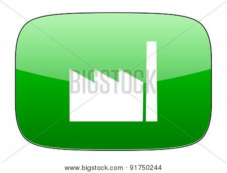 factory green icon industry sign manufacture symbol