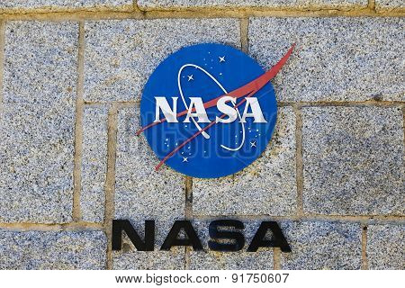 Nasa Logo At The Madrid Deep Space Communications Complex