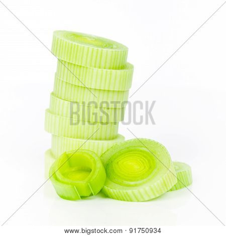 leek isolated