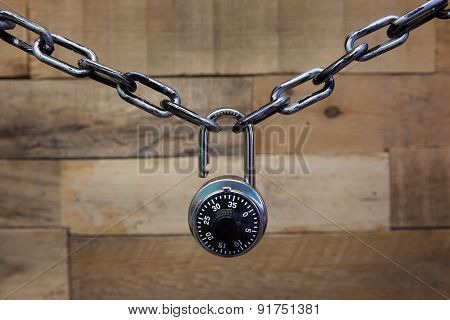 Combination lock and chain
