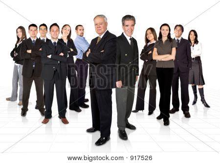Unternehmer und ihre Business-Team