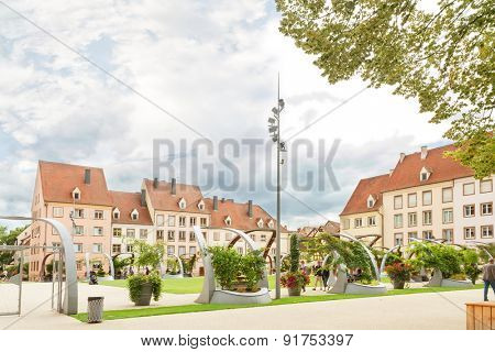 France, Alsace, Colmar, View of old hospital