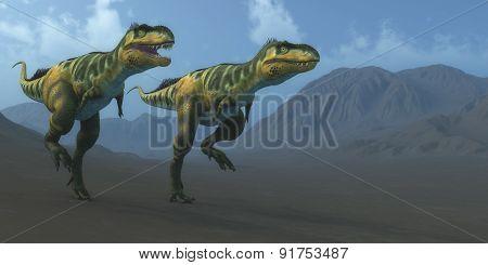 Bistahieversor Dinosaurs Hunting