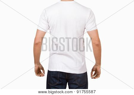 White Tshirt On Young Man