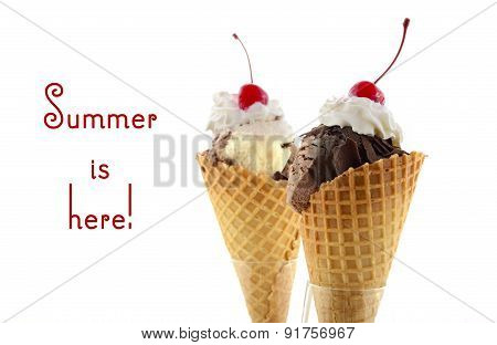Summer Is Here Chocolate Ice Cream