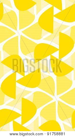 Yellow Pattern Of Flower Shapes