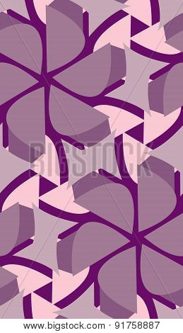 Seamless Purple Floral Shapes