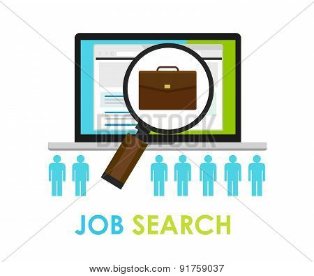 job search bag loop online web employment career