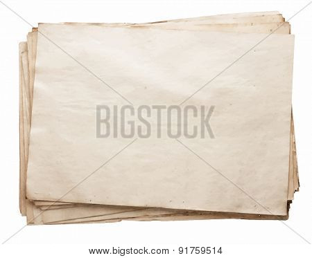 stack of old papers, vector