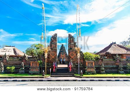 Main entrance of country temple in BaliIndonesia.