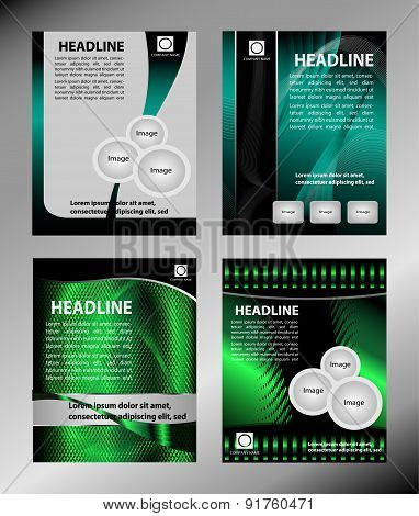 Abstract brochure design templates. Modern back and front flyer backgrounds