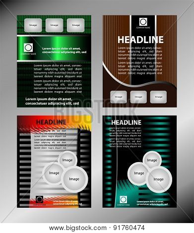 Vector template for advertising brochure set