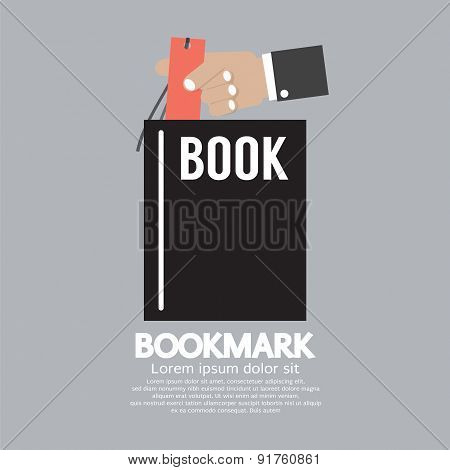 Book With Bookmark In Hand.