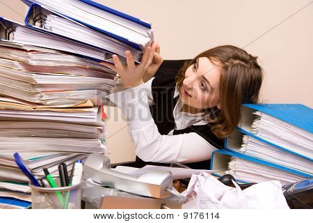 Young Businesswoman With Documents