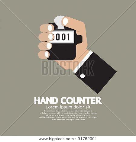 Flat Design Hand Counter.