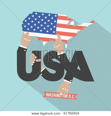 Usa Typography Design.