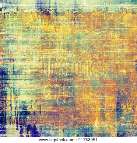 Rough grunge texture. With different color patterns: yellow (beige); brown; blue; cyan