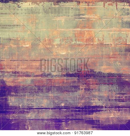 Old Texture or Background. With different color patterns: yellow (beige); gray; cyan; purple (violet)