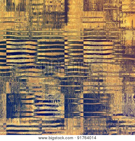 Abstract grunge background or old texture. With different color patterns: yellow (beige); gray; blue; purple (violet)