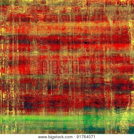 Old-style background, aging texture. With different color patterns: yellow (beige); brown; red (orange); green