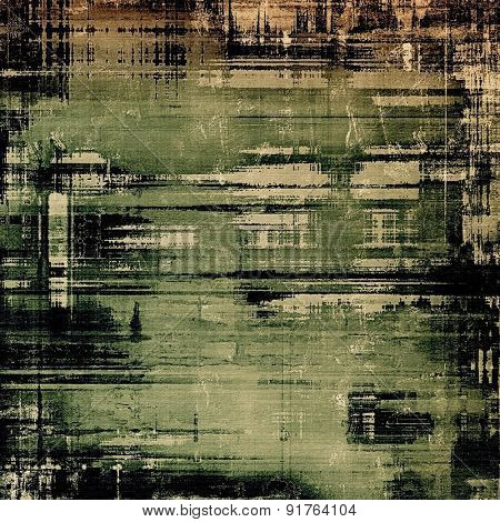 Old grunge textured background. With different color patterns: yellow (beige); brown; black; green