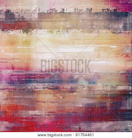 Abstract grunge background or old texture. With different color patterns: yellow (beige); gray; red (orange); purple (violet)