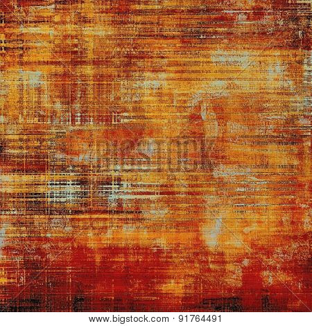 Grunge background with vintage and retro design elements. With different color patterns: yellow (beige); brown; red (orange)