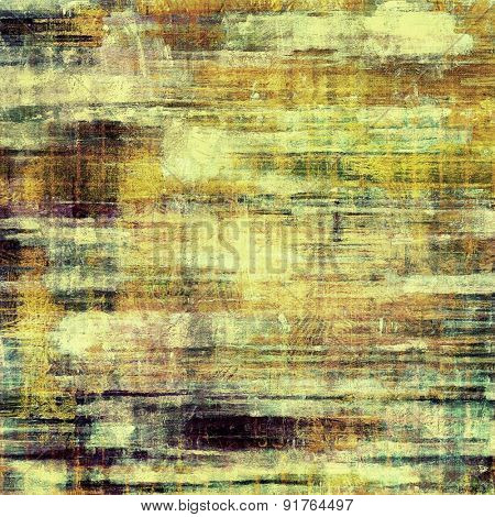 Old abstract grunge background, aged retro texture. With different color patterns: yellow (beige); brown; purple (violet); green