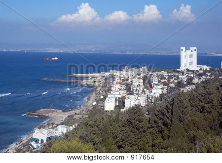 View Of Haifa From Mountain Carmele, Israel