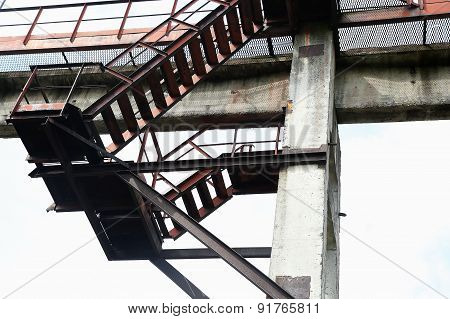 Metal Staircase Above Surface